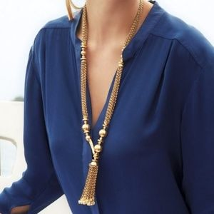Stella & Dot Bianca Tassel Necklace